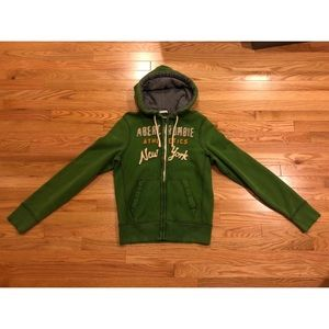 """Abercrombie & Fitch Green """"Muscle"""" Jacket"""